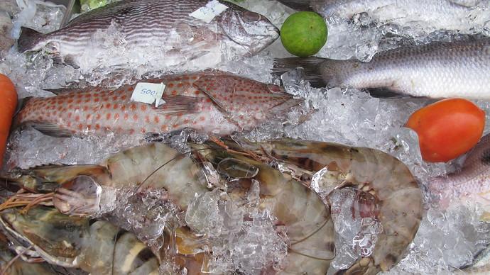 Seafood at Saladan Koh Lanta
