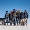 4WD and our group at Salar de Uyuni, Bolivia