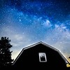 Milky Way over barn in Alabama