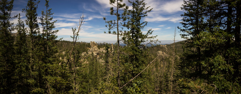 Overlooking Custer Panorama