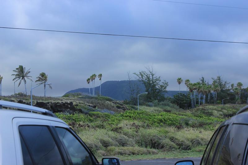 Mauna Loa with storm