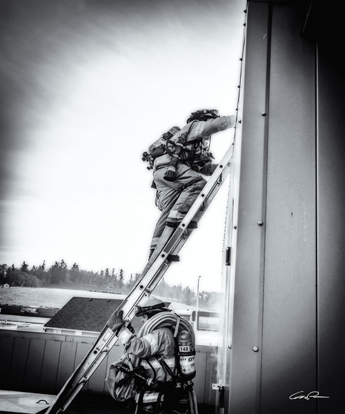 Climbing Firefighters