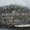 Salem, MA Witch Trials Memorial in snow.