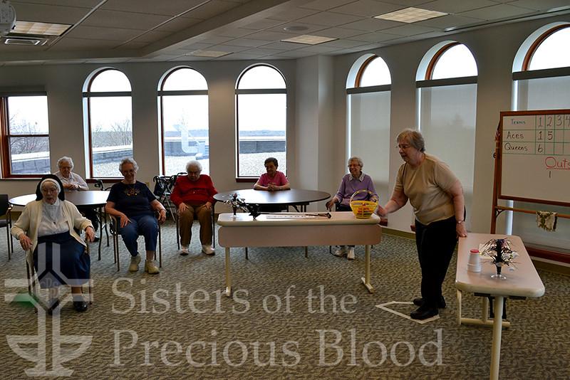 Sisters Rosemary Laux, Rita Yahl, Lou Ann Roof, Mary Anne Schiller, Rosalie Kastner, Rosemary Goubeaux, Nadine Kaschalk. Photo by Michelle Bodine.