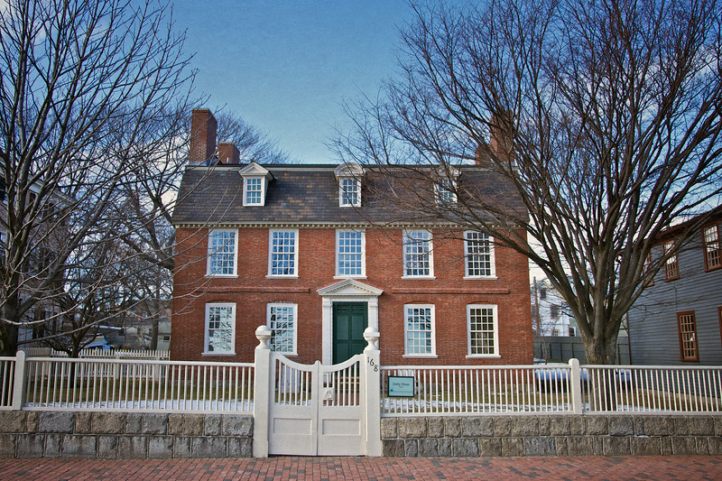 Colonial Era Architecture: Derby House, 1762, Salem, Essex County, Massachusetts. The Salem Inn, Salem, Essex County, Massachusetts