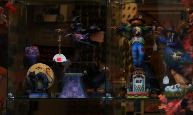 Festive Halloween Window in Salem