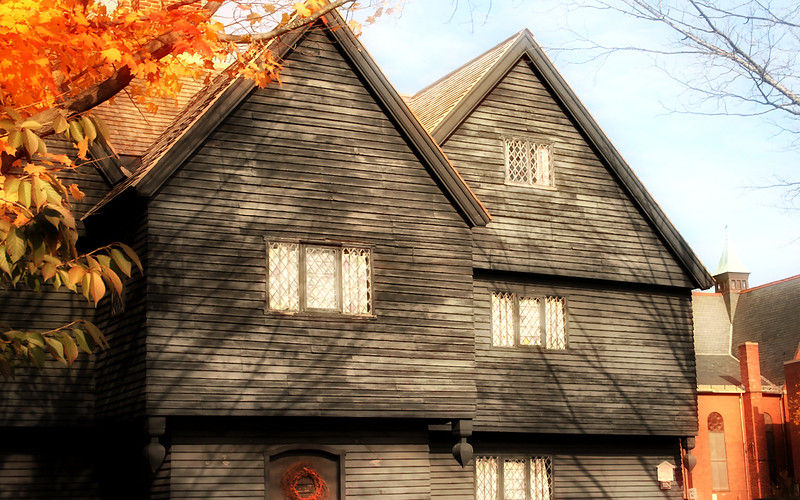 Autumn Leaves at the Witch House