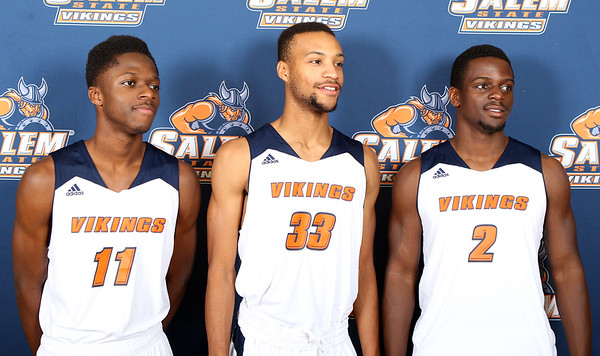 Freshman Guard Shaquan Murray #11, Freshman Guard Stanley Cazeau #33, Sophomore Guard Lake Berry #2