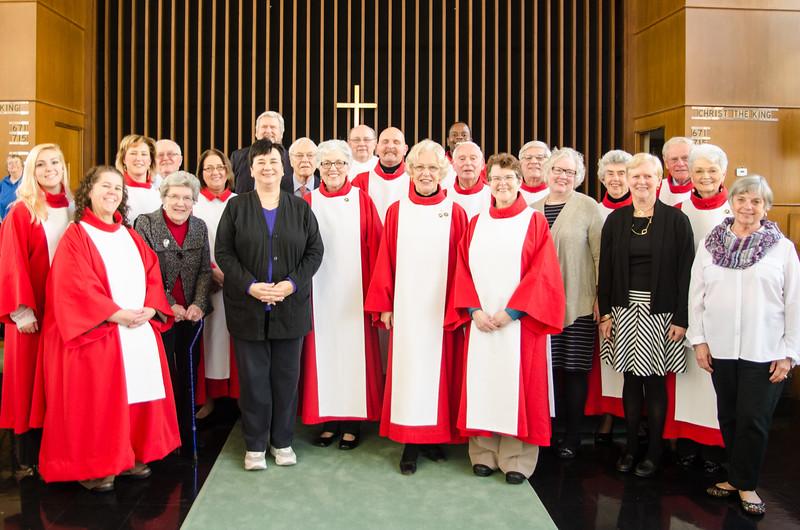 Liz Frohrip and the Salem Lutheran Choir