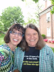 Jenny and Debbie Harrell (current Salem College Math Professor, former math classmate from NCSU Grad School, and friend of Dr. Lewis Lum)