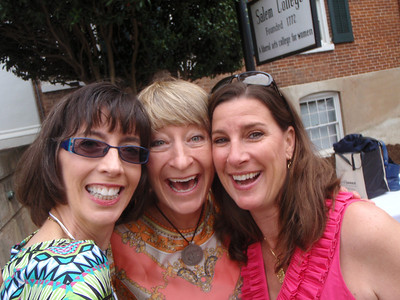 Jenny, Liz, and Amanda = Raleigh Salem alums