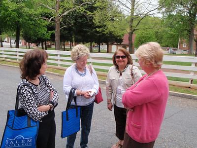 C'78ers waiting for class picture - Susan Milstead, Libby Shull, Vickie Mendenhall, and Ginny Cain Ratchford