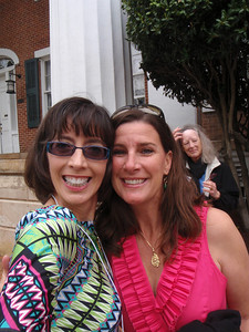 Saturday: Jenny and Amanda Ramsuer (Raleigh Salem Alum) on front campus for Class Pictures