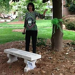 Jenny dedicating her bench with the Class of 1978 present.
