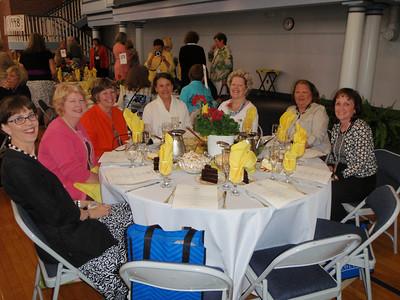 Susan Thomason Durant, Ginny Cain Rathchford, Kathy Kirkpatrick Oates, Laura Benfield Thompson, Libby Shull, Vickie Mendenhall, Susan Milstead at Jenny's table