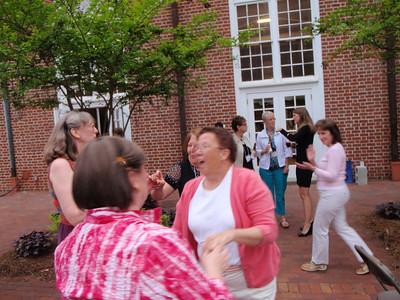 Rebecca, Liz, Vicki, Anne Piedmont, and Susan Milstead dancing
