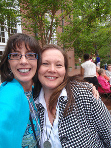 Jenny and Jennifer Morgan (Salem College Director of Major and Planned Giving)