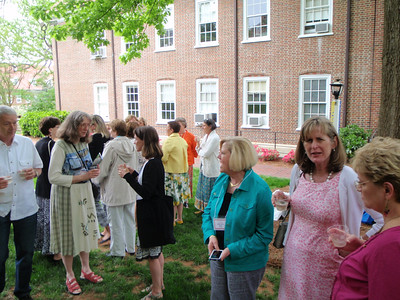 C'78 toasting Jenny's bench with Steve Eaton (Mom's friend/neighbor) assisting with serving the bubbly to Betty Shull Butler, Marie Camp Hanson, and Jan Guiton Federal