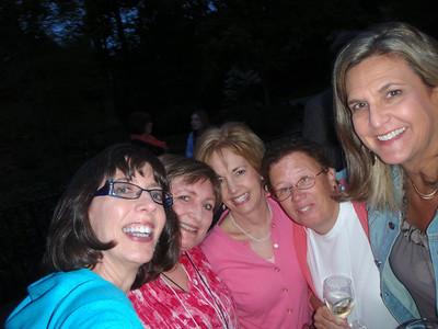 Jenny C'78, Liz C'78, Katherine, Anne Piedmont C'89. and Jennifer Coe Graham C'89 at the party