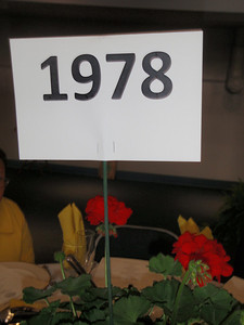 Saturday luncheon table marker
