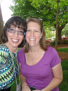 Jenny and Kris Amidon Bowman (Raleigh Salem alum who drove to campus for Jenny's bench celebration)