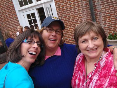 Jenny, Sarah Parsons Davis, and Liz Rhodes Perritt at Reunion Kick-Off Party