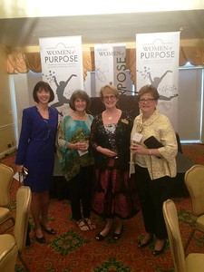 Jenny, Nancy Sumner, Dr. Sterritt, and Anne Salisbury at the Gala