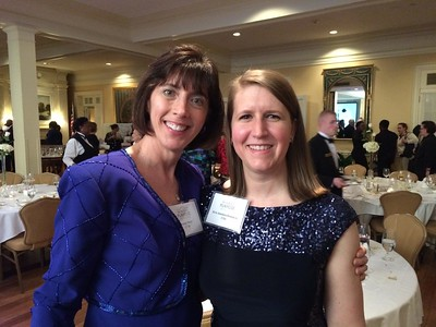 Jenny and Kris Bowman (Triangle Alumnae Club president)