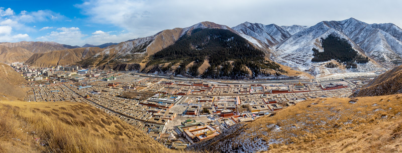 Labrang overview in wintertime