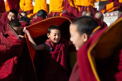 Young monks having fun