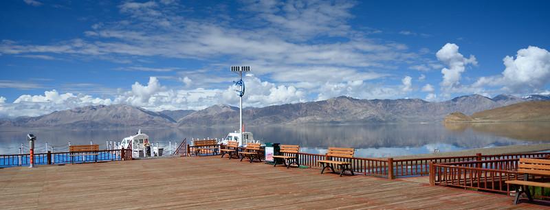 Pangong Lake as seen from Tibet