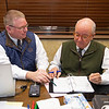 (L-R): Kurt Becker and Ryan Mahan<br /> Keeneland January Horses of all ages sales on<br /> Jan. 14, 2020 Keeneland in Lexington, KY. Photo: Anne M. Eberhardt