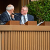 (L-R): Ryan Mahan and Kurt Becker<br /> Keeneland January Horses of all ages sales on Jan. 15, 2020 Keeneland in Lexington, KY. Photo: Anne M. Eberhardt