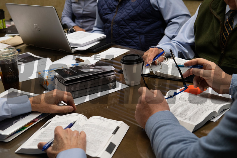 Consignor meeting with sales team on Jan. 13, 2020 Keeneland in Lexington, KY. Photo: Anne M. Eberhardt