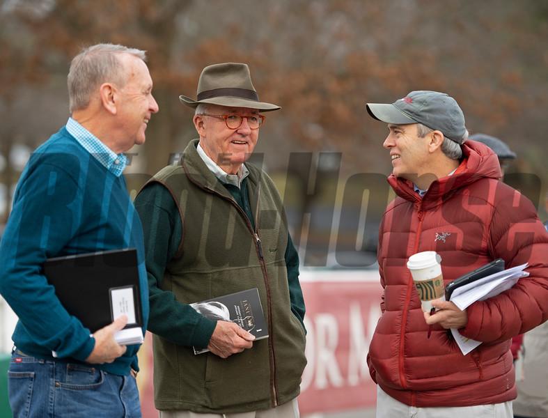 (L-R): John Henderson, Ryan Mahan, Mark Taylor. Scenes during the Keeneland January sales on Jan. 11, 2020 Keeneland in Lexington, KY. Photo: Anne M. Eberhardt