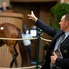 Bidspotter Jesse Bolin<br /> Keeneland January Horses of all ages sales on<br /> Jan. 15, 2020 Keeneland in Lexington, KY. Photo: Anne M. Eberhardt