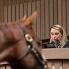 Gabby Gaudet announces at Keeneland<br /> Keeneland January Horses of all ages sales on Jan. 15, 2020 Keeneland in Lexington, KY. Photo: Anne M. Eberhardt