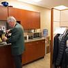 Bidspotters relaxing in the break room on<br /> Jan. 16, 2020 Keeneland in Lexington, KY. Photo: Anne M. Eberhardt