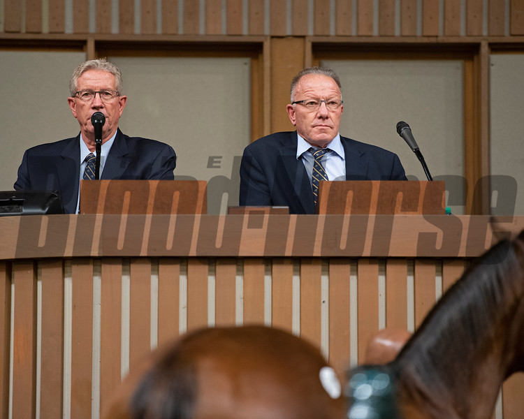 (L-R): Scott and Cris Caldwell Keeneland January Horses of all ages sales on Jan. 15, 2020 Keeneland in Lexington, KY. Photo: Anne M. Eberhardt