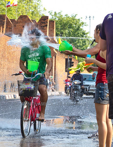 Songkran, Thailand's New Year celebration kicks off  in boisterous style with a five day long water fight.