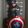 Salford Comic Con 2017, Cosplay, Cosplayer, Male, Man, Captain America, Marvel, Marvel Comics, Films, Movies, Cartoons, Video Games, Avengers, Hero, Mask, Amor, Gloves, Body Amour, Suit, Boots, Shield, America, Star, Stripes, Leather, Red, Blue, Silver, Black, White