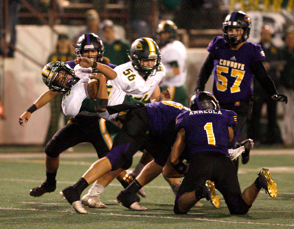 . Division 4-AA CIF State Football Championship Bowl Game on Friday, Dec. 8, 2017 in Salinas.  Placer High beat Salinas High in overtime 43-42 to advance to the CIF State Final.  (Vern Fisher - Monterey Herald)