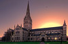 Salisbury Cathedral at Sunset