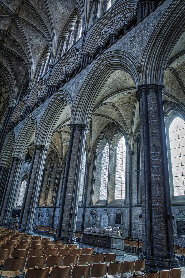Interior image of Salisbury Cathedral in Wiltshire