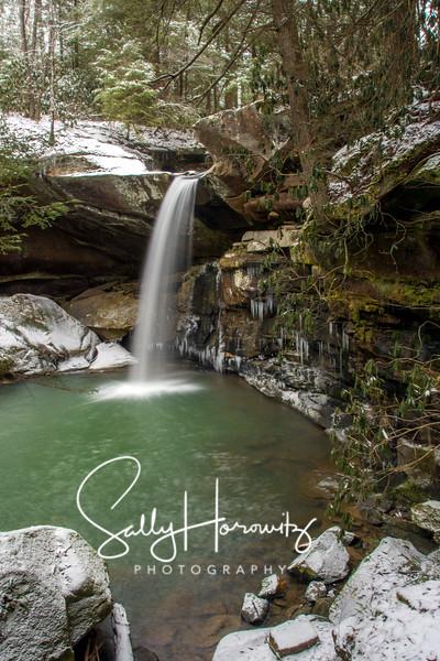Flat Lick Falls, winter 2