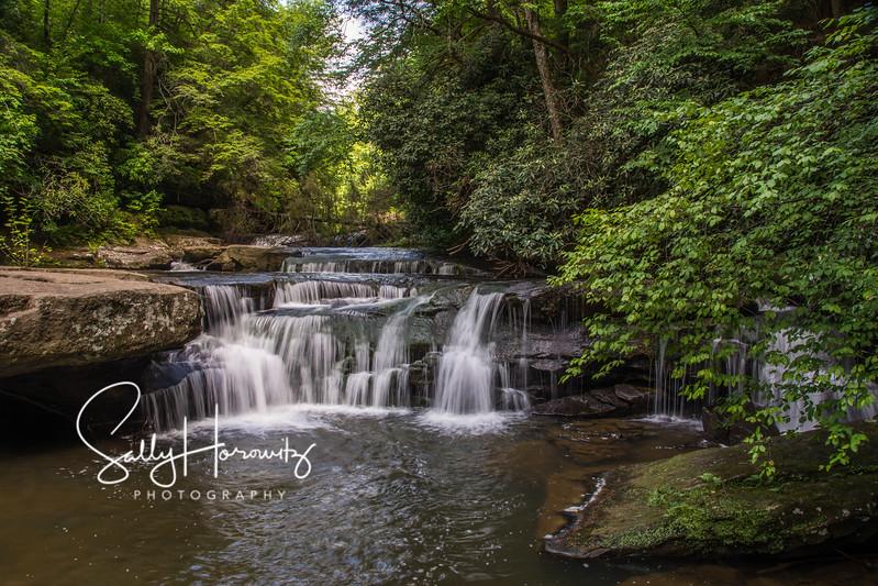 Bark Camp Creek cascades - 1