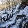 Fulling mill waterfall on Shawnee Run, winter