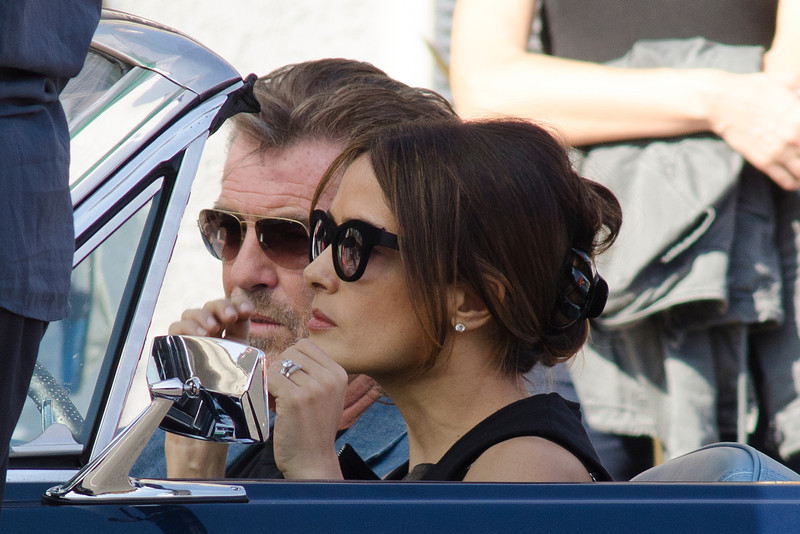 Salma Hayek and Pierce Brosnan seen in Venice