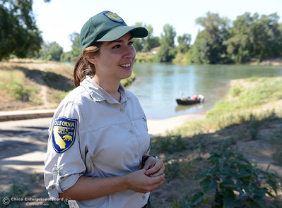 Erin Ferguson says the salmon aren't biting on opening day, Saturday, July 16, 2016, on the Sacramento River at Woodson Bridge State Recreation Area in Corning, California. Around 10 a.m. 10 boats had returned to the boat launch at Woodson Bridge, but no fish had been caught. (Dan Reidel -- Enterprise-Record)