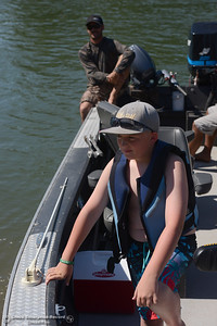 Connor Ortiz talks about catching a monster 44-pound salmon in 2011 as Anglers report the salmon aren't biting on opening day, Saturday, July 16, 2016, on the Sacramento River at Woodson Bridge State Recreation Area in Corning, California. (Dan Reidel -- Enterprise-Record)